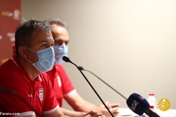 بحث اسکوچیچ با خبرنگار بحرینی درباره زمین بازی